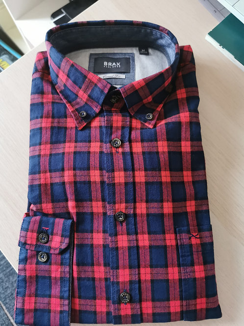 BRAX Shirt Casual Fit Red/Blue Check