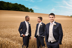 Navy Slim Fit with silver weave waistcoat 1
