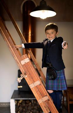 Navy Tweed Highland Boy Ladder