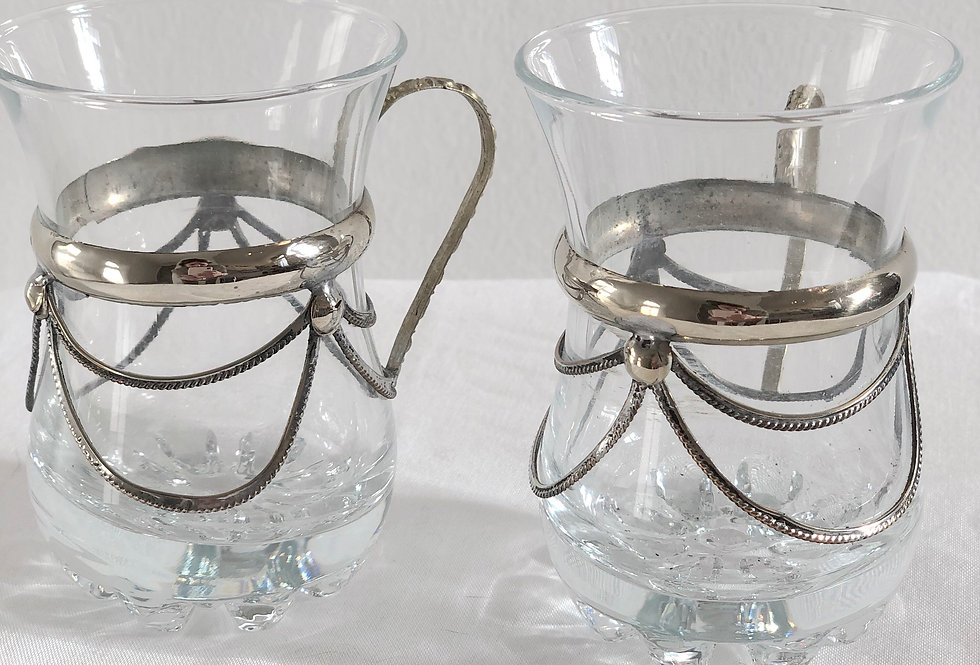 Tea Glass with Metal Details