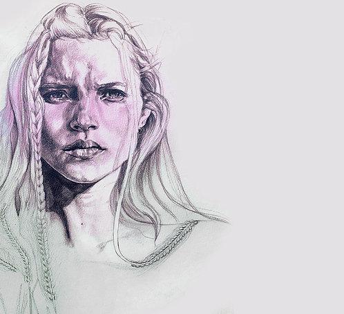 CUSTOM Realistic Portrait Illustration MEDIUM SIZED #RealisticPortrait