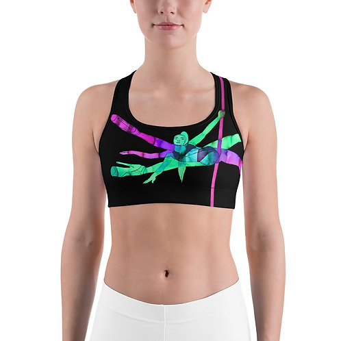 "Sports bra ""Free yourself. Dance"""