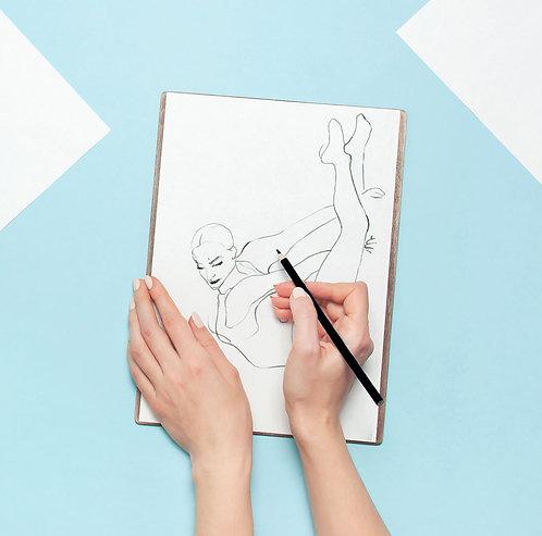 Aerial Lyra Coloring Sheet