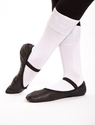 Boys black leather ballet shoes