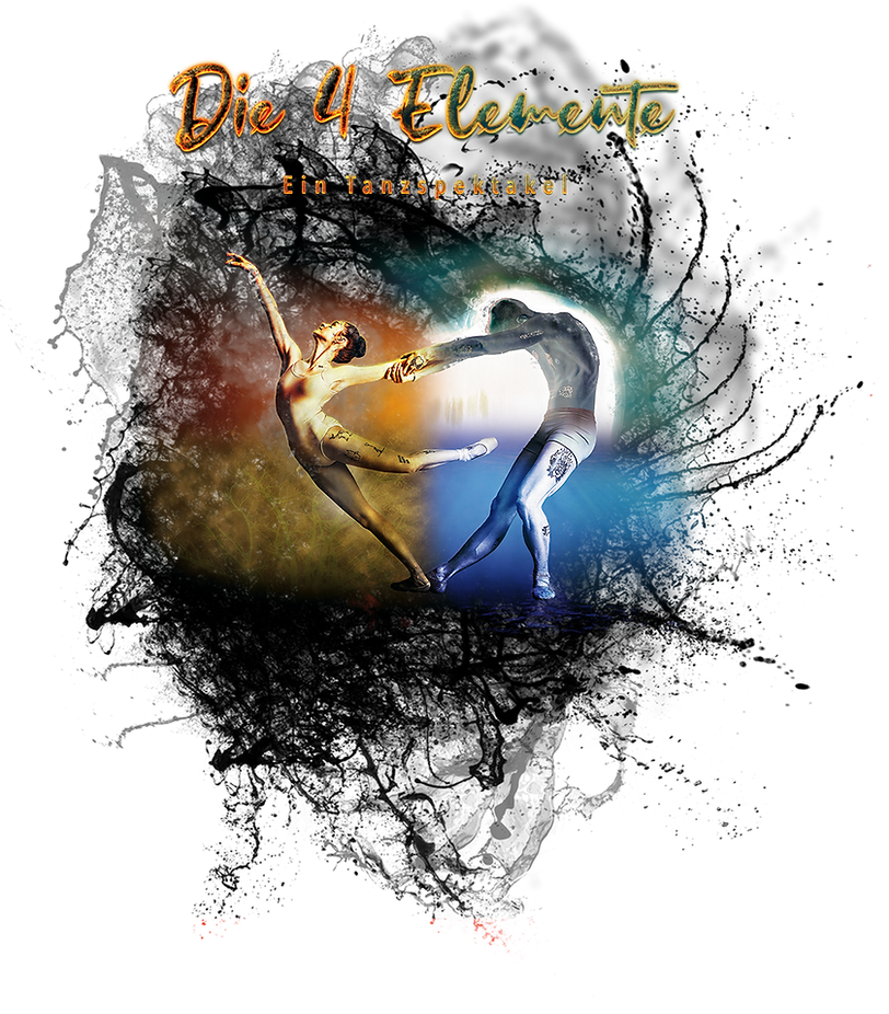 Die 4 Elemente Logo, MDance Company, Dance Show