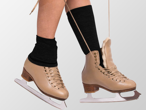 What socks should ice skaters wear on their feet?