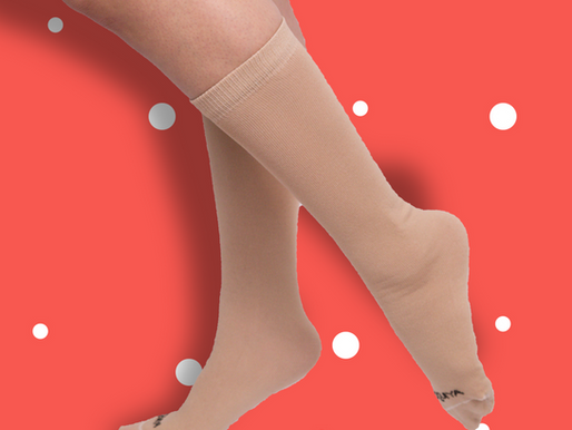 Ice Skaters: Don't Skate Barefoot! Try these knee-high socks instead...