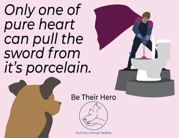 Norman Animal Welfare Print Ad