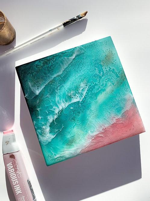 Bahamas Aerial Ocean Original