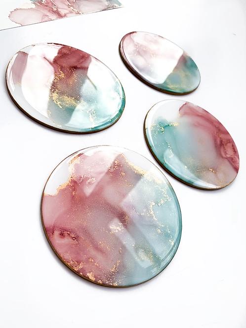 Rose Opal Coasters