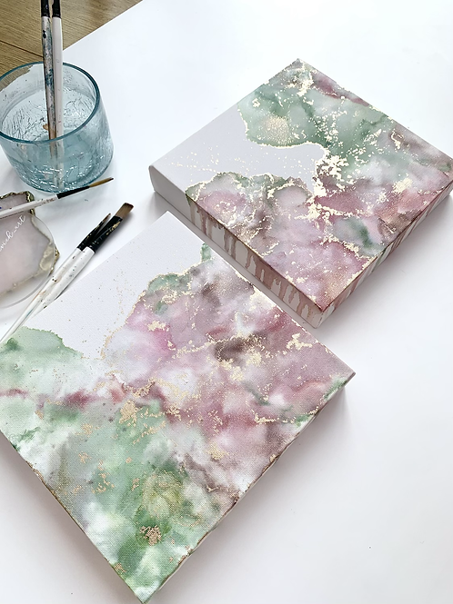 Rose Opal Canvas Duo