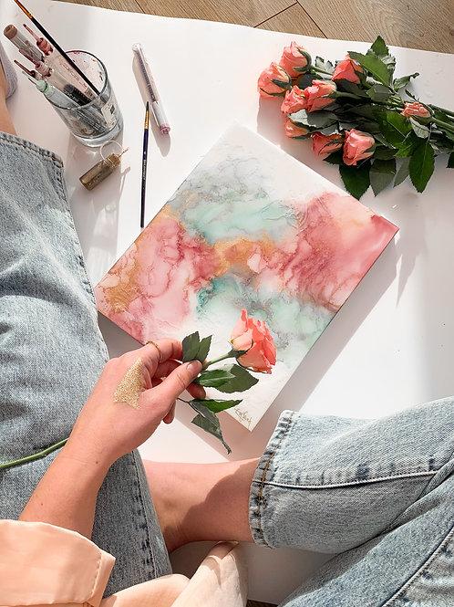 Rose Opal Resin Original