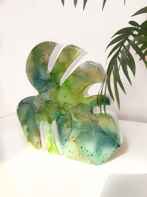 Bright Mostera Leaf Art