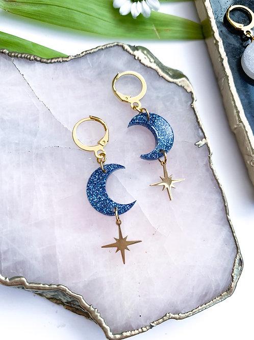 Lunar Star Petite Earrings
