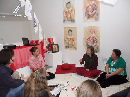 Red Tent Event, Re_Imagining Birth Exhib