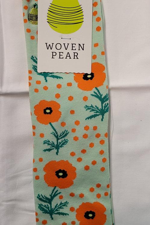 Woven Pear Poppy socks