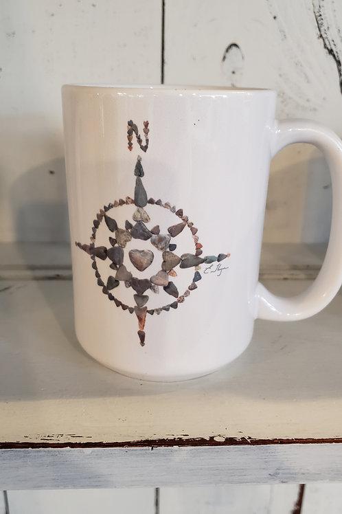 Love Rocks Mug compass