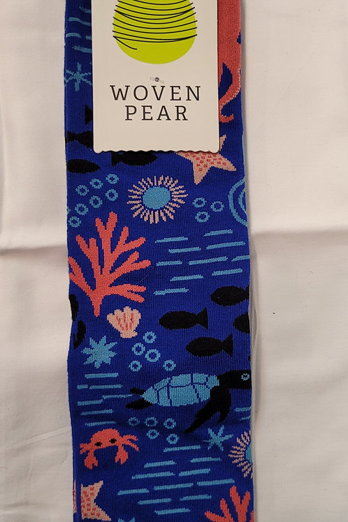 Woven Pear Under The Sea Socks
