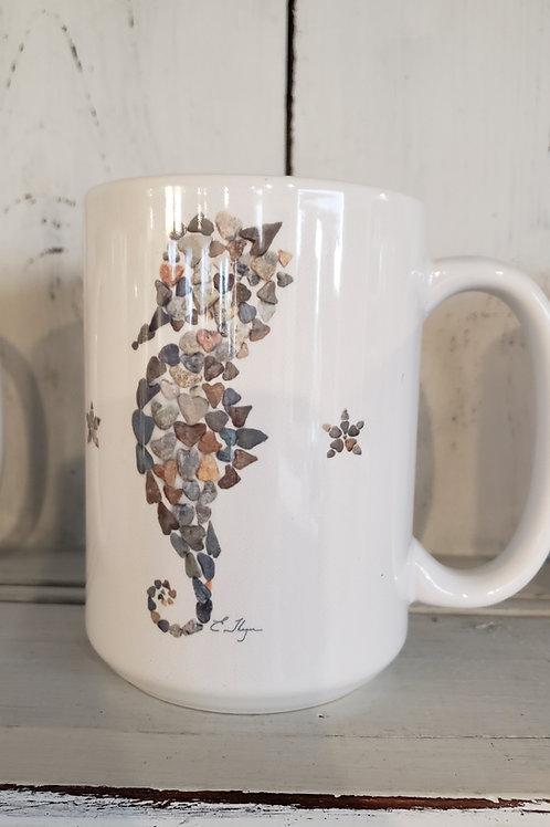 love rocks mug seahorse