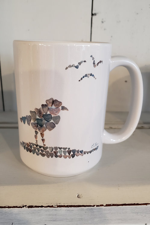 love rocks mug seagull