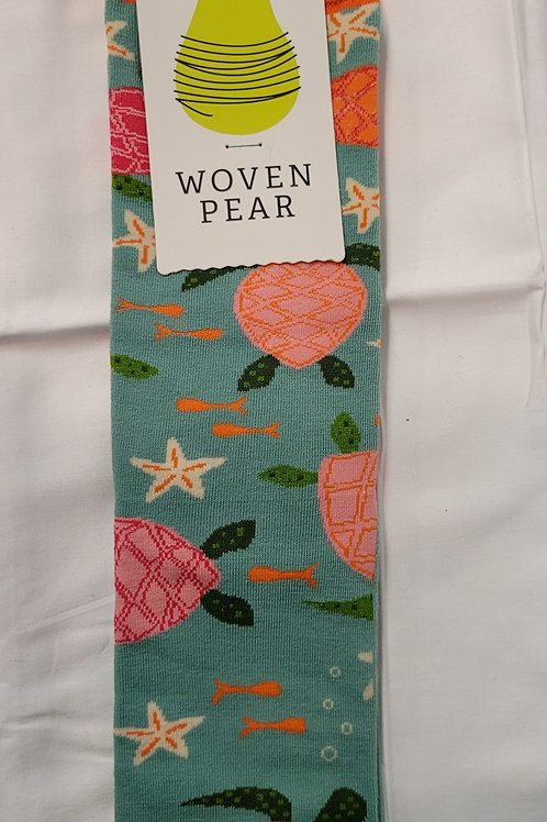 Woven Pear Sea ya Later socks