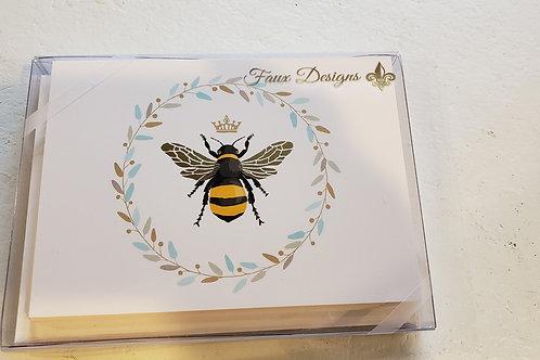 Queen Bee Note Cards