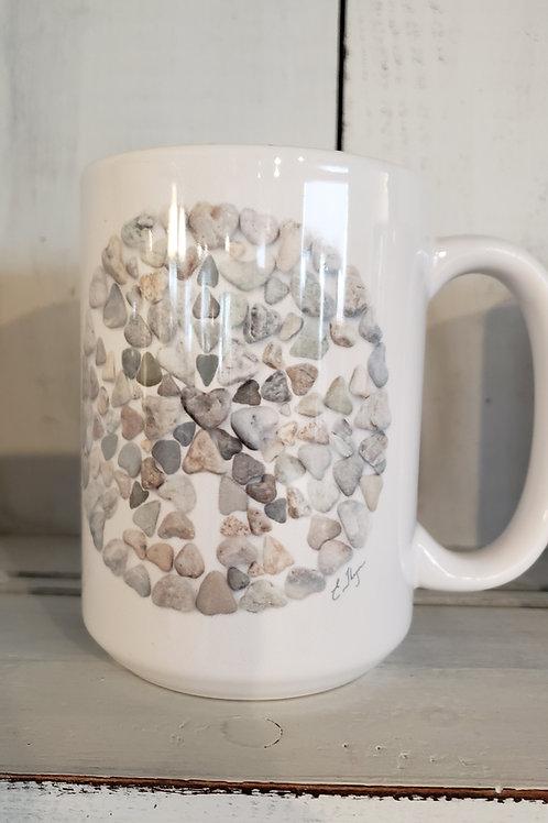 love rocks mug sand dollar