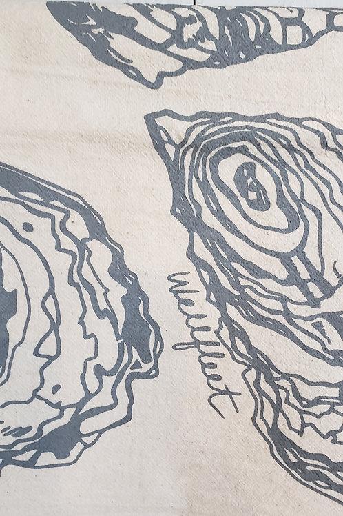 OYSTER GREY TEA TOWEL