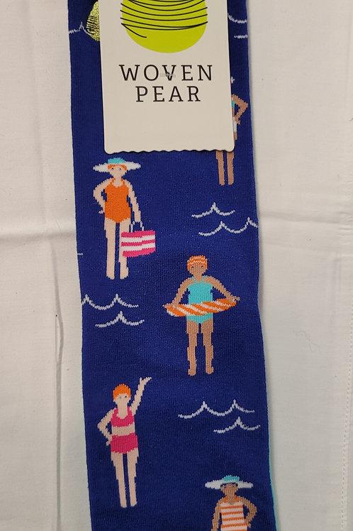 Woven Pear Beach Day Socks