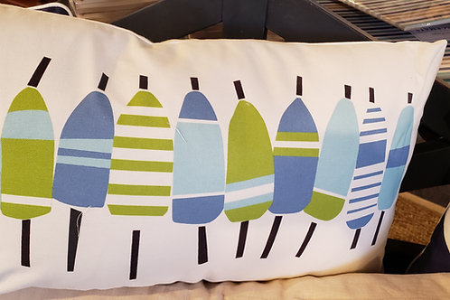 Kate Nelligan Oar Pillow blue and green