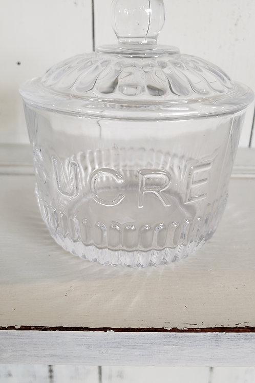 GLASS SUCRE DISH