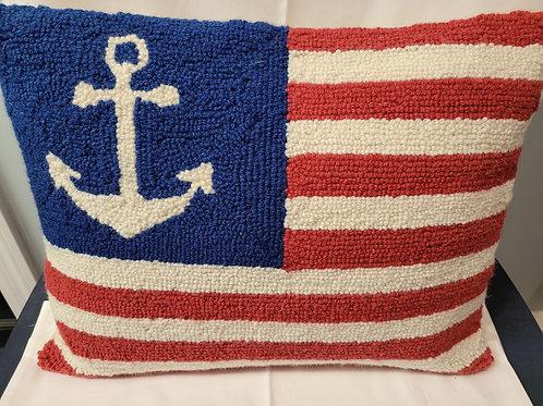 flag needlepoint pillow