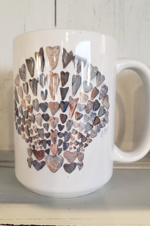 love rocks mug shell