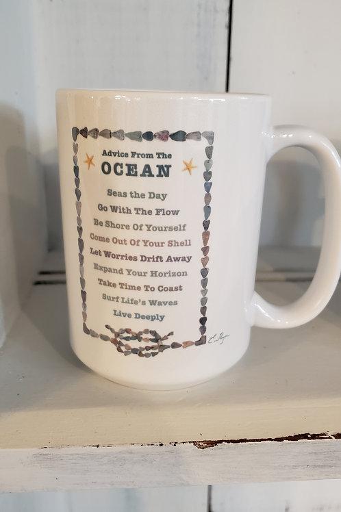 love rocks mug advice from the ocean