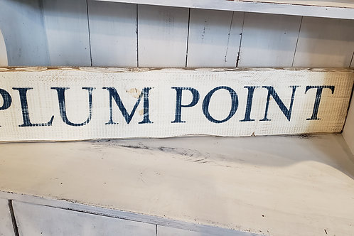 HANDMADE PLUM POINT SIGN