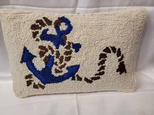 anchor needlepoint pillow