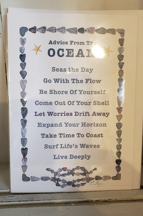 ADVICE FROM OCEAN CARD
