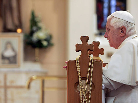 Pope Benedict invokes Mary as 'Mediatrix of all graces'