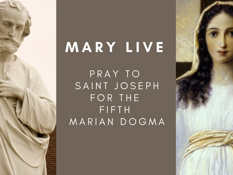 Mary Live - Pray to St Joseph for the Fifth Marian Dogma