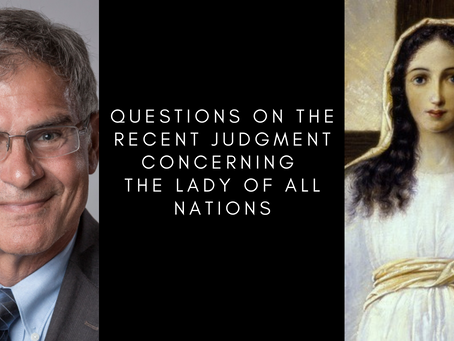 Questions on the Recent Judgment Concerning the Lady of All Nations