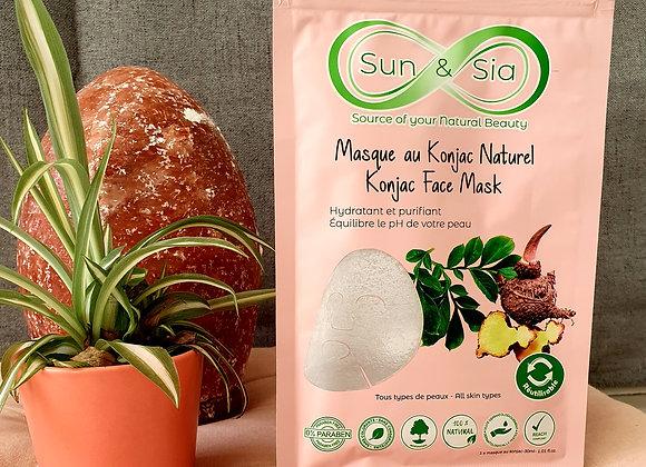 Masque Visage au Konjac 100 % Naturel  Réutilisable
