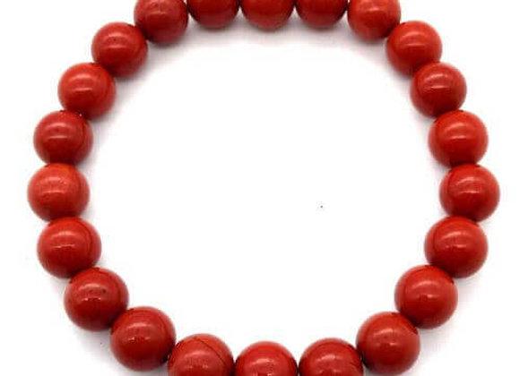 Bracelet Pierre Jaspe Rouge Naturel / 8 mm Chine