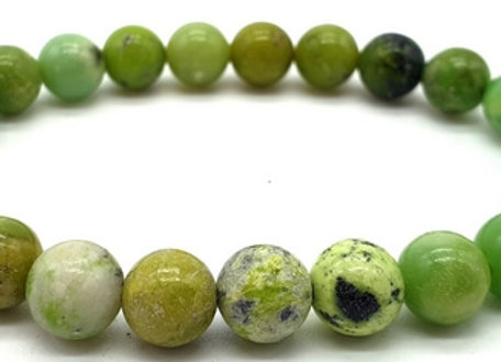 Bracelet Pierre Chrysoprase Naturelle / Perles 8 mm  Chine