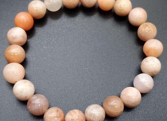 Bracelet Pierre de Soleil Naturelle / Perles 8 mm  Chine