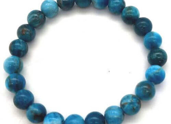 Bracelet Pierre Apatite Extra / Perles 8 mm Chine