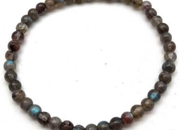 Bracelet Pierre Labradorite Naturelle / Perles 4 mm Chine