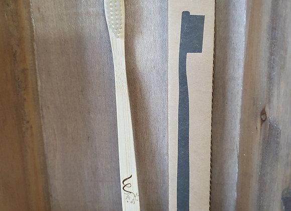 Brosse à Dents en Bambou Modèle Adulte Médium