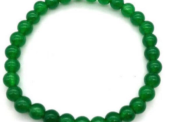 Bracelet Pierre Jade Naturel / Perles 6 mm Chine
