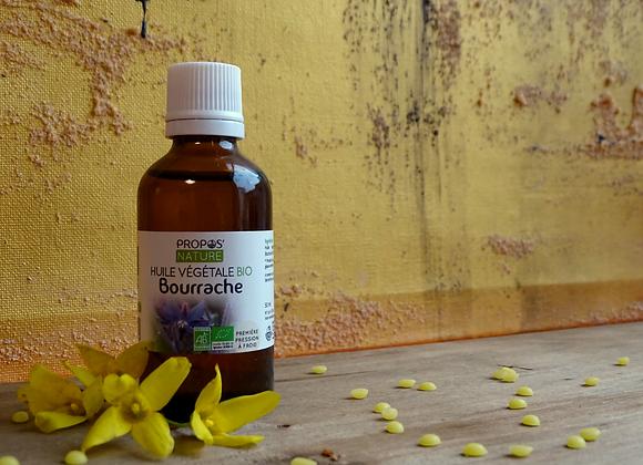 Huile Végétale de Bourrache Bio / Borago Officinalis / 50 ml