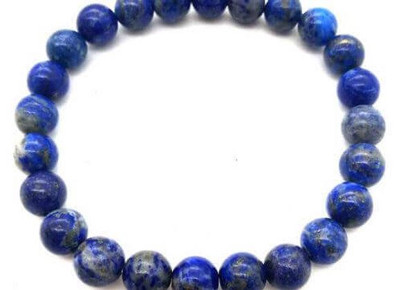 Bracelet Pierre Bracelet Lapis Lazuli Naturel / Perle 8 mm Chine